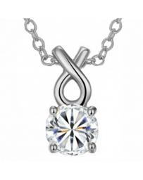 Dije con cadena Munich on Silver, Cristal Sun with Swarovski