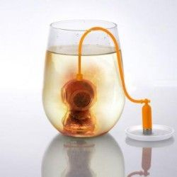 Deep Diver Tea Infuser Leaf Strainer Spice Food-safe Silicone Diffuser