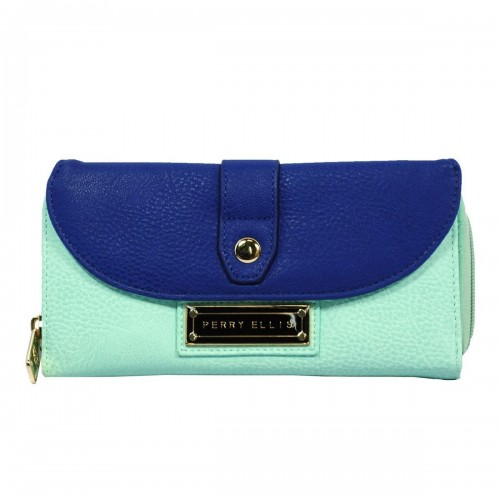 Monedero PE Flap Aqua