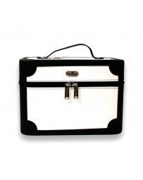 Beauty Case Negro con Blanco