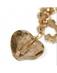 Collar Corazón Cristal Ambar
