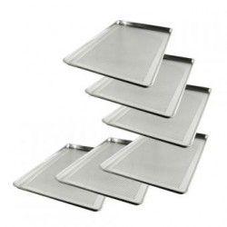 CHOICE paquete 6 Charola 45x65 Perforada Aluminio