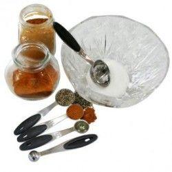 Stainless Steel Coffee Tea Cooking Scoop 5 Piece Measuring Spoon Set 1.25ml/ 2.5ml/ 5ml/ 7.5ml/ 15ml