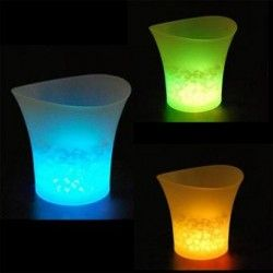 ER 5L LED cubo de hielo de color con luz Cambio Flashing frescos Bares Partido Noche Verde