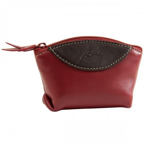 Porta monedas cubeta con cierre Q410 rojo
