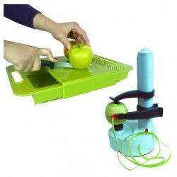 Cutting Board Y Pelador Electrico Para Frutas Y Verduras