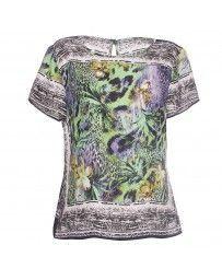 Blusa con Estampado de Flor Novenna Collection