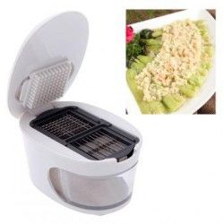 3 in 1 Garlic Press Slicer Grater Dicing Slicing and Storage Kitchen Tool