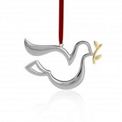 Adorno Decorativo para Arbol navideño. Paloma. MT0771 Metal