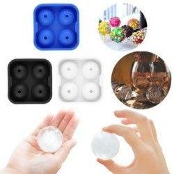 ER Nueva Ronda bolas de hielo fabricante de la bandeja Cuatro Esfera Moldes Cube Whisky Cócteles