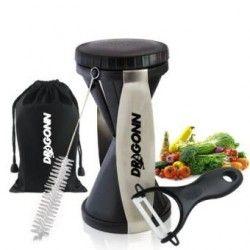 Rallador en espiral - Cortador de verduras - Paquete completo con accesorios