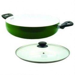 Arrocera de Aluminio YAJAD con recubrimiento de ceramica 28 cm-Verde