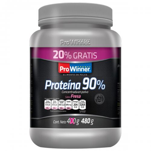 Proteina 90% Fresa 400 G mas 20 porciento Extra