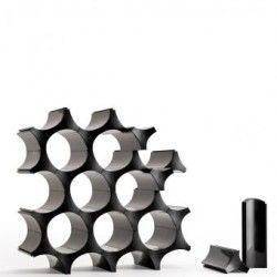 Rack para vinos Celular Qualy Negro